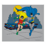 Batman And Robin Running Poster