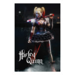 Batman Arkham Knight | Harley Quinn with Bat Poster