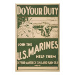 Do Your Duty-Join The U.S. Marines Poster