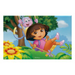 Dora The Explorer | Dora And Boots Swinging Poster