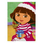 Dora The Explorer | Dora Sitting With Gift Poster
