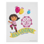 Dora The Explorer | How Many Balloons Do You Count Poster