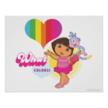 Dora The Explorer | What Colors! Poster