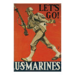 Let's Go Marines Poster