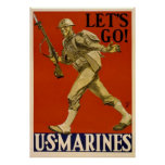 Let's Go - U.S. Marines Poster
