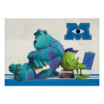 Mike and Sulley Reading Poster
