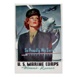 So Proudly We Serve - U.S. Marine Corps Poster
