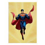 Superman Flying Poster