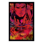 Superman Red Grunge Poster