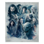 The Five Armies Character Graphic Poster