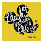 Trendy Mickey | Laugh At Yourself Poster